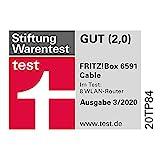 AVM Fritz!Box 6591 Cable WLAN AC + N Router (DOCSIS-3.1-Kabelmodem, Dual-WLAN Ac+N (MU-MIMO) mit 1733 (5 GHz) + 800 Mbit/S (2, 4 GHz), VoIP-Telefonanlage) - 4
